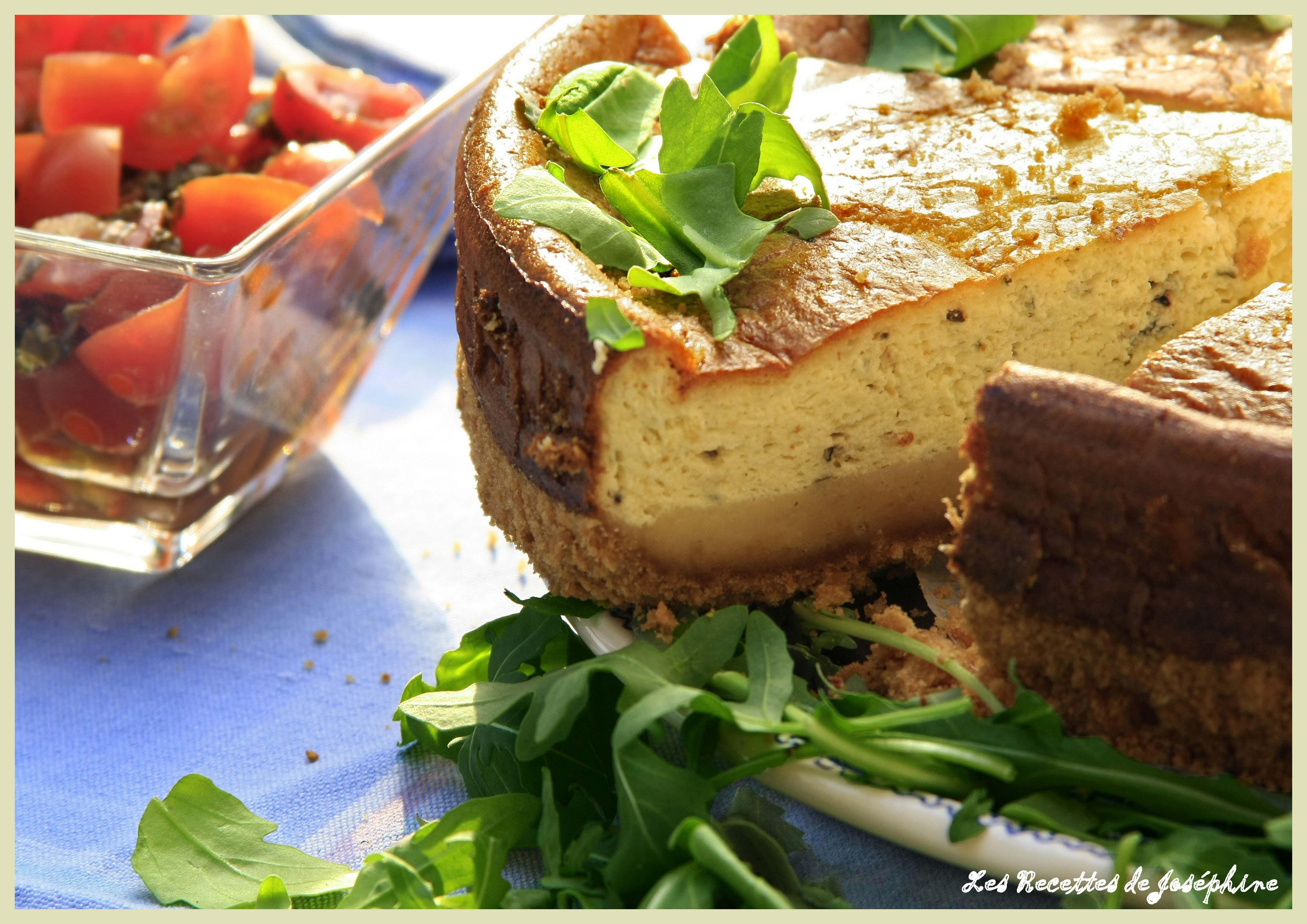 Cheese-cake au Gorgonzola et Basilic Confit