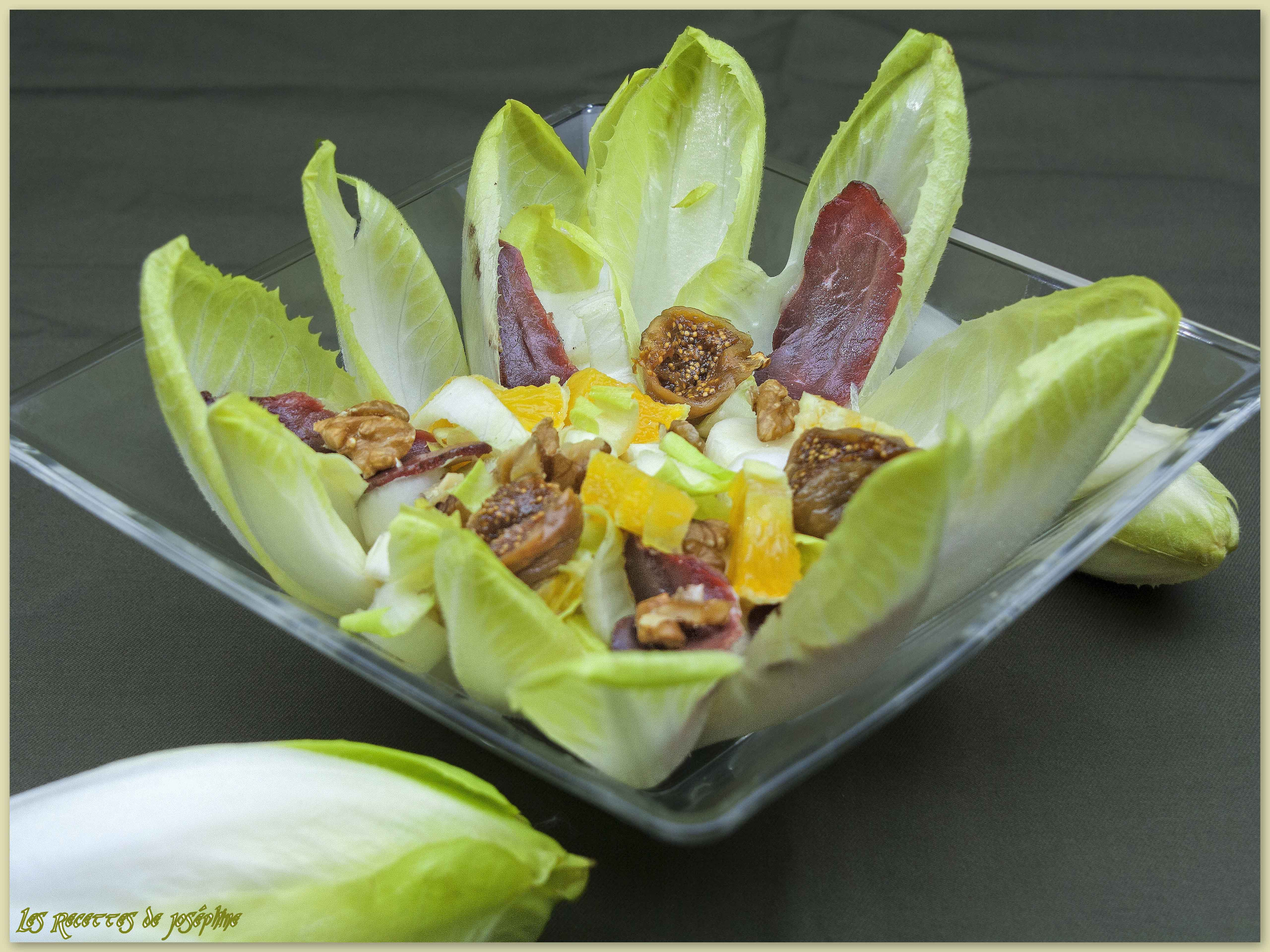 Salade d'Endives,Vinaigrette à l'Orange