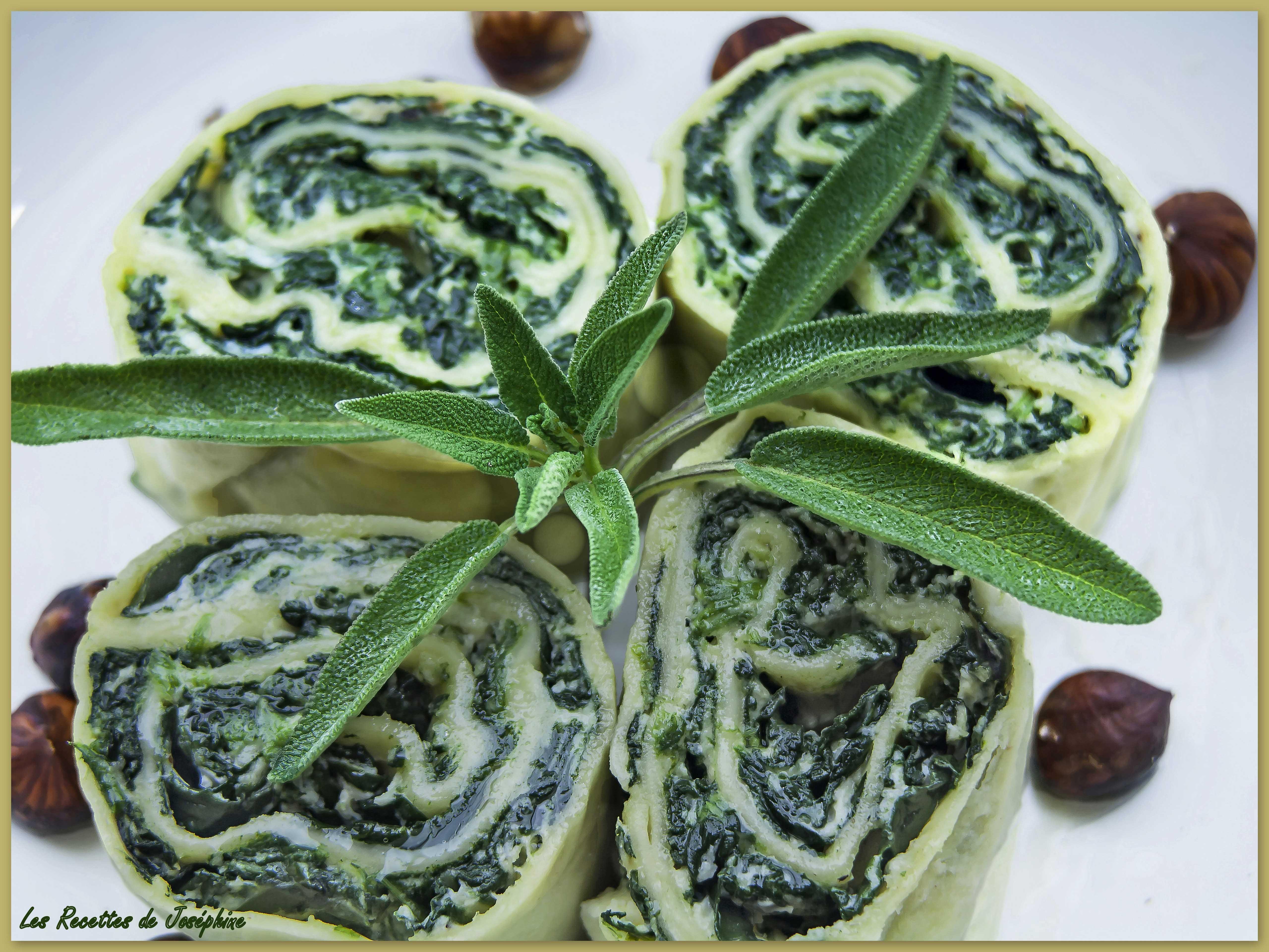 «Rotolo di Pasta» aux Épinards et Ricotta
