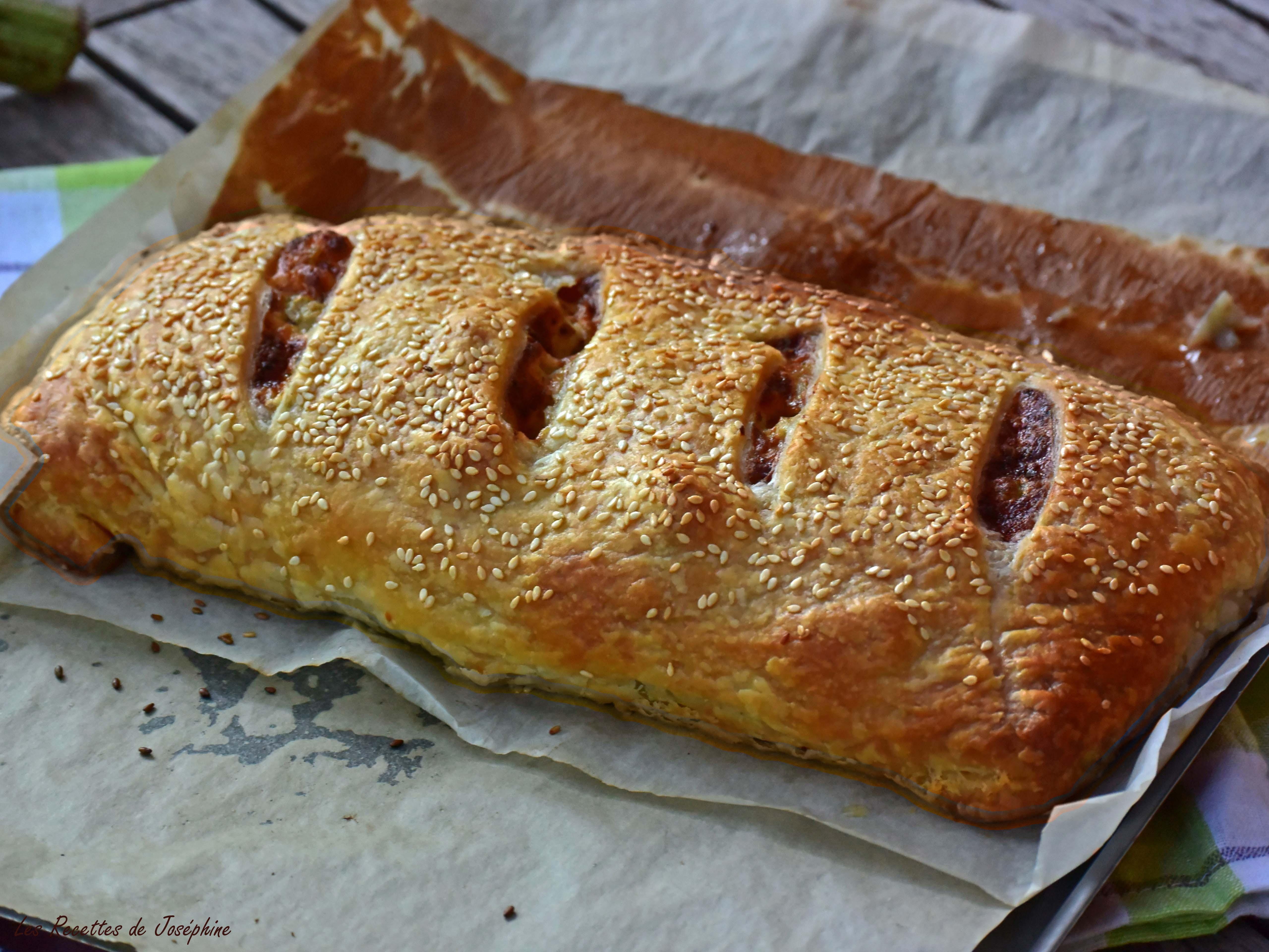 Strudel aux Artichauts et Parmesan