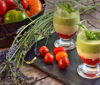Verrines de tomates et ricotta